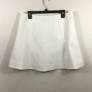 NEW J. CREW White Mini Skirt Size 12